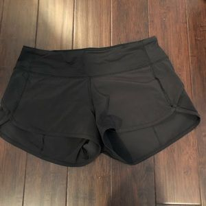 Lululemon running shorts.